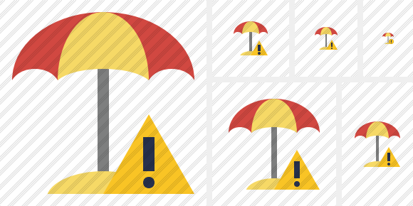 Beach Umbrella Warning Symbol