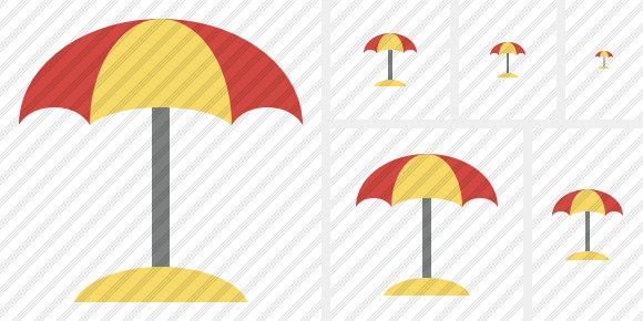 Beach Umbrella Symbol
