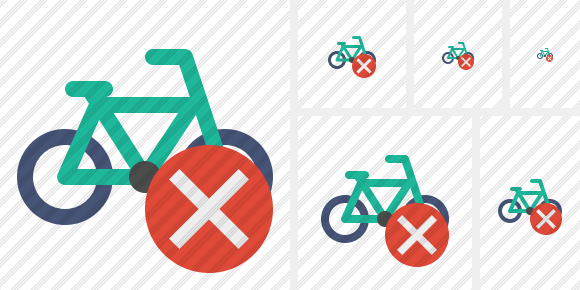 Bicycle Cancel Symbol