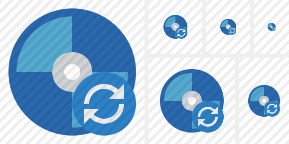 Bluray Disc Refresh Icon
