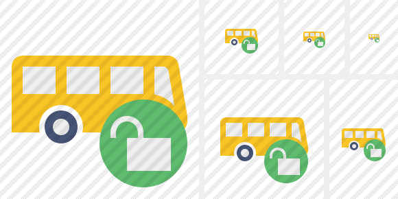 Bus Unlock Icon