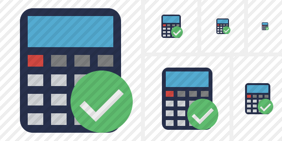Calculator Ok Icon