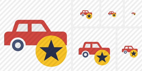 Car Star Icon