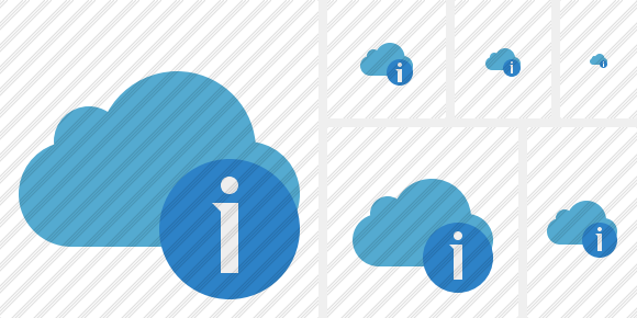 Cloud Blue Information Symbol