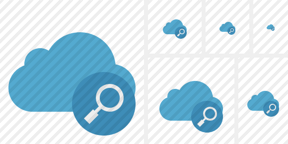 Cloud Blue Search Symbol