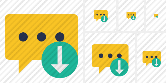 Icône Comment Download