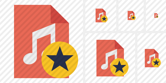 File Music Star Symbol