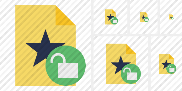 File Star Unlock Icon