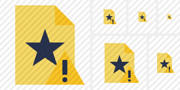 File Star Warning Icon
