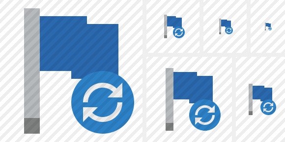 Flag Blue Refresh Icon