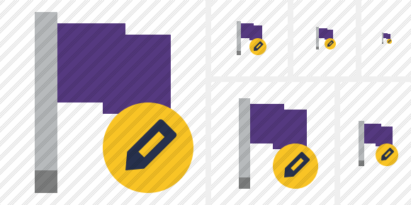 Flag Purple Edit Symbol