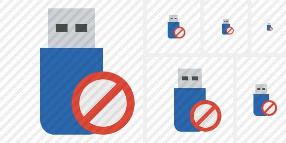 Flash Drive Block Icon