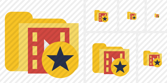 Folder Movie Star Icon