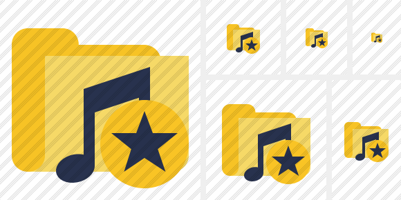 Folder Music Star Icon