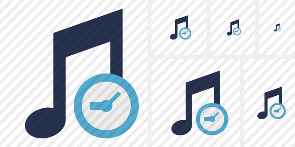 Music Clock Icon