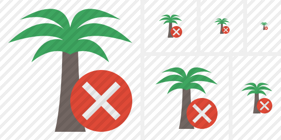 Palmtree Cancel Symbol