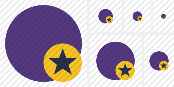 Point Purple Star Icon