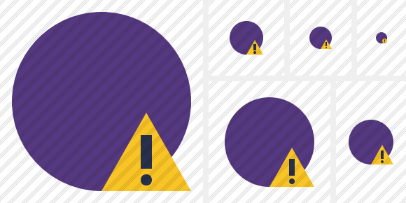 Point Purple Warning Icon