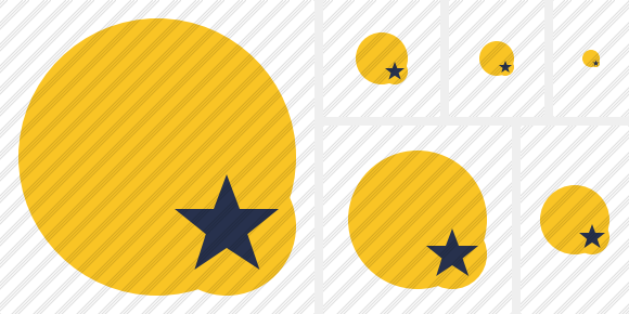 Point Yellow Star Icon