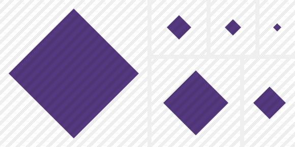 Rhombus Purple Symbol
