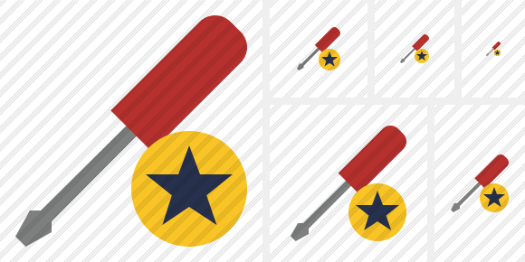 Screwdriver Star Symbol