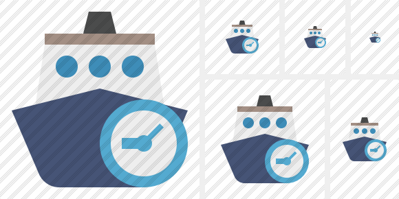 Ship 2 Clock Icon