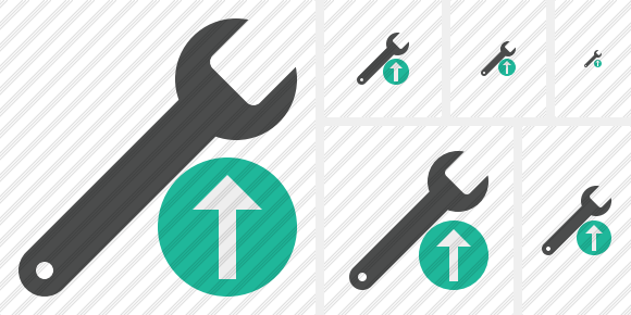 Spanner Upload Icon