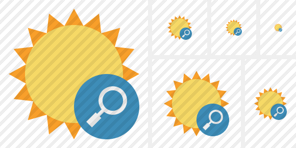 Sun Search Icon