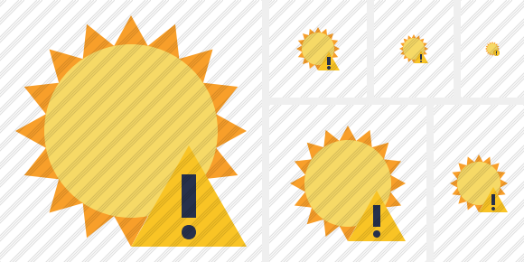 Sun Warning Icon