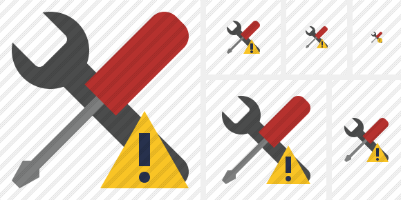 Tools Warning Symbol