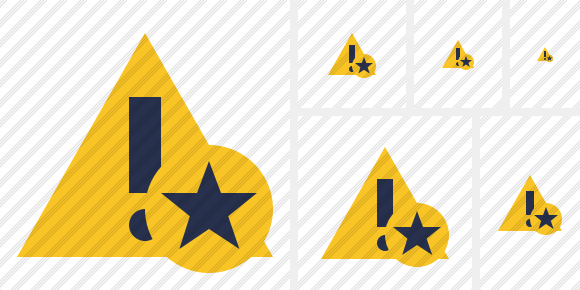 Warning Star Icon