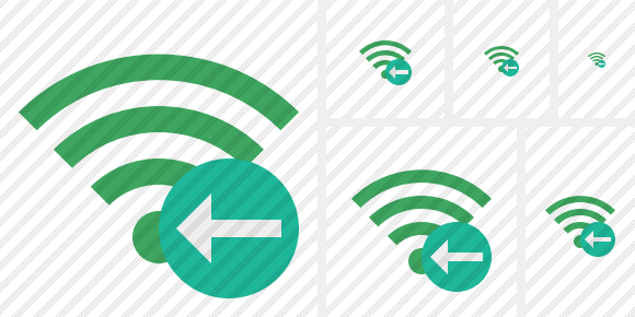 Wi Fi Green Previous Symbol