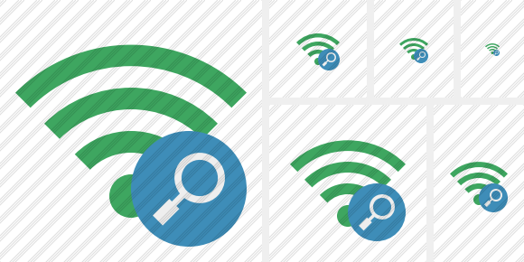 Wi Fi Green Search Symbol