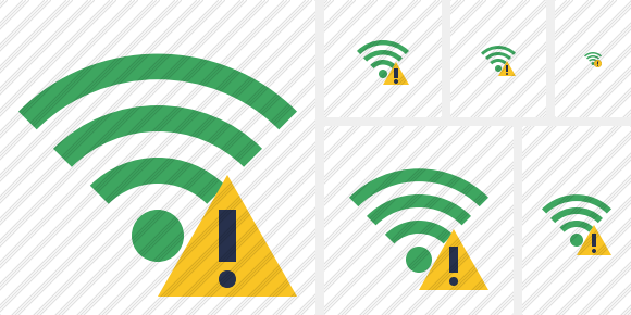 Wi Fi Green Warning Symbol