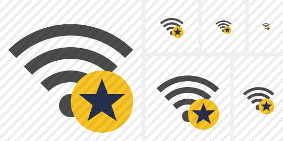 Wi Fi Star Icon