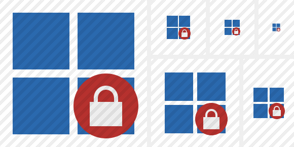 Windows Lock Icon