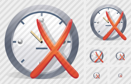 Clock Remove Icon