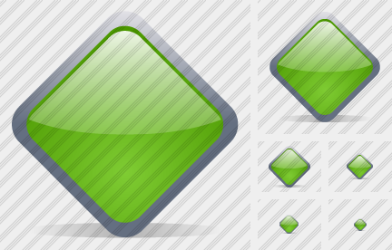 Diamond Green Icon