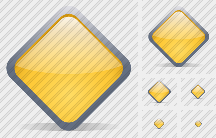Diamond Yellow Icon