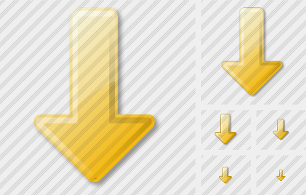 Arrow Down Yellow Icon