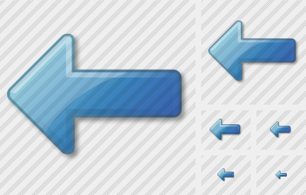 Arrow Left Blue Icon