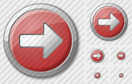 Arrow 2 Right Red Icon