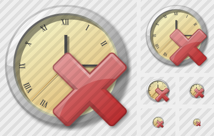 Clock Delete Icon