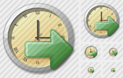 Clock Export Icon
