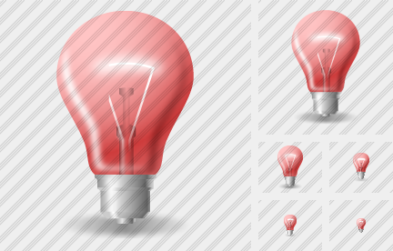 Lamp Red Icon