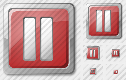 Media Pause Red Icon
