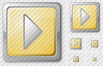 Media Play Yellow Icon