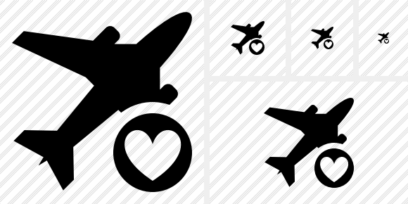Airplane Favorites Icon