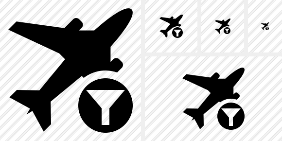 Airplane Filter Icon