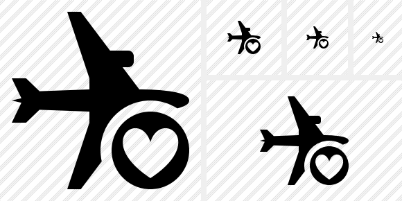 Airplane Horizontal Favorites Symbol